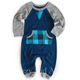 Miki Miette|Miki Miette Fall 2017|Izzy and Ash|Designer Children's Clothing Boutique|Blue Plaid Onesie