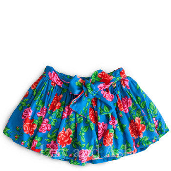 Mim Pi Blue Floral Skirt|Mim-Pi Blue Floral Skirt|Girls Blue Skirt|Tween Skirts|Tween Clothes