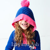 Mim Pi|Mim Pi Fall 2017|Izzy and Ash|European Children's Clothes|Hooded Pompom Sweater|Girls Hoodies