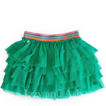 Mim Pi Girls Tutu Skirt|Mim Pi|Mim Pi Fall 2017|Girls Tutu Skirt|Green Tutu Skirt|Green Skirts
