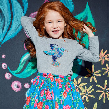 Tween Clothing|Designer Tween Clothes|Mim-Pi|Mim Pi|Girls Shirts|Designer Girls Shirts|Bird Shirt