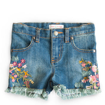 Mimi and Maggie|Mimi and Maggie Spring 2018|Girls Denim Shorts|Tween Denim Shorts|Children Jean Shorts