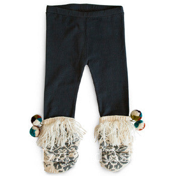 Mimi and Maggie Girls Pom Pom Legging|Girls Legging|Pompom legging|Mimi and Maggie Fall 2016