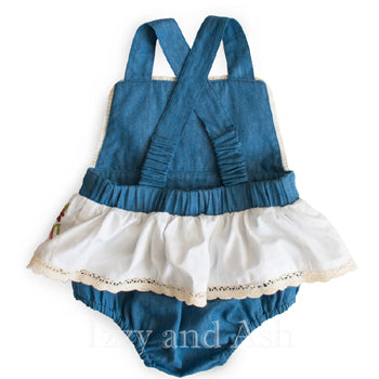 Denim Rompers|Trendy Baby Clothes|Designer Baby Clothes|Baby Girls Clothes|Layettes