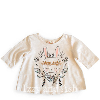 Mimi and Maggie Infant Girls Bunny Flowers|Baby Girls Clothing|Infant Girls Clothing