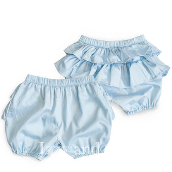 Paper Wings|Little Wings|Baby Bloomers|Blue Bloomers|Blue Ruffle Bloomers|Girls Bloomers