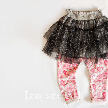 Little Wings Girls Pink Radiant Heart Leggings