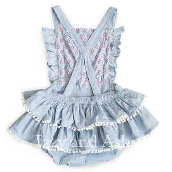 Ruffle Overall Bloomers|Children Overalls|Baby Overalls|Baby Clothes