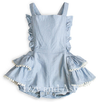 Paper Wings|Little Wings|Little Wings Denim Overall Bloomers|Baby Onesies|
