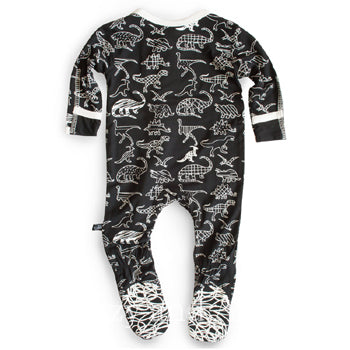 Gender Neutral Children's Clothes|Dinosaur Footie|Layettes|Layette|Kickee Pants Fall 2018