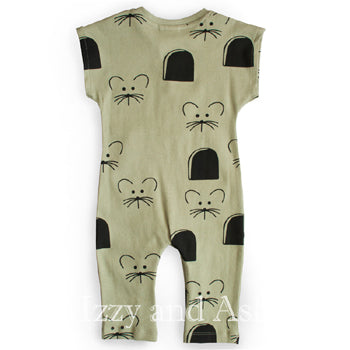 Cute Baby Clothes|Mouse Romper|Mouse Print Romper|Unisex Layette