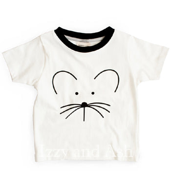 Turtledove Spring 2018|Turtledove|Gender Neutral Children's Clothes|Kids Mouse Shirt|Children Mouse T-Shirt