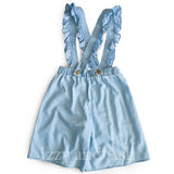 Girls Denim Shorts|Ruffle Overalls|Designer Girls Clothing|Trendy Children's Clothing|Kids Clothes