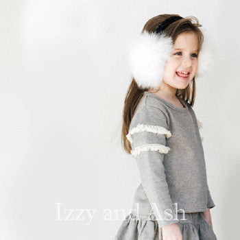 Gray|Grey|Gray Sweater|Grey Sweater|Fringe|Fringe Sweater|Fringe Sweatshirt|Children's Activewear|Designer Children's Activewear