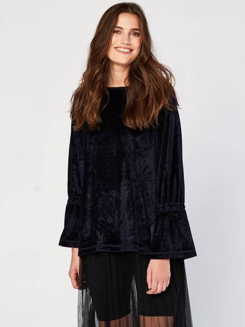 Rowan Raglan Velour Top