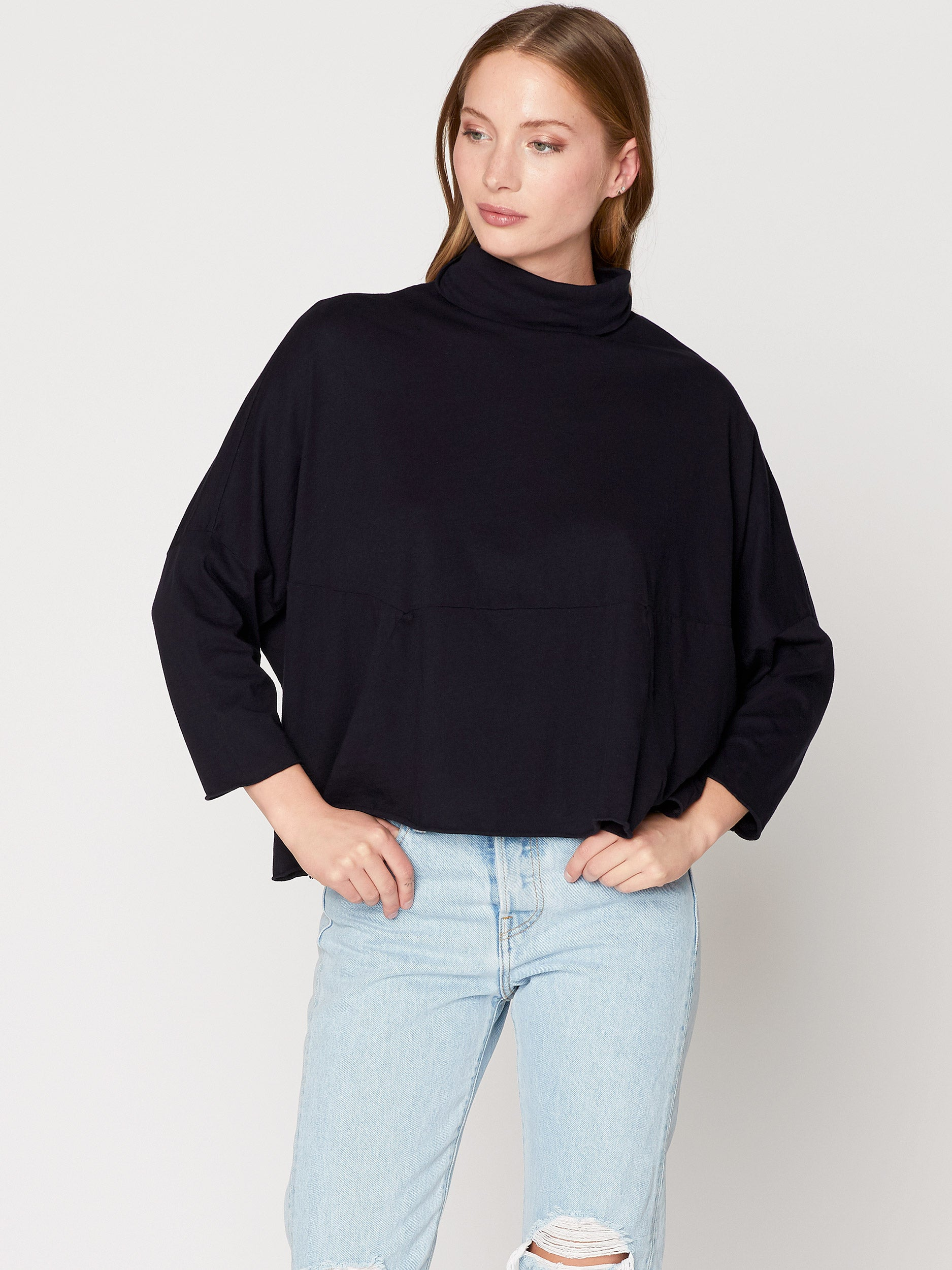 Zoey Turtle Neck Tee