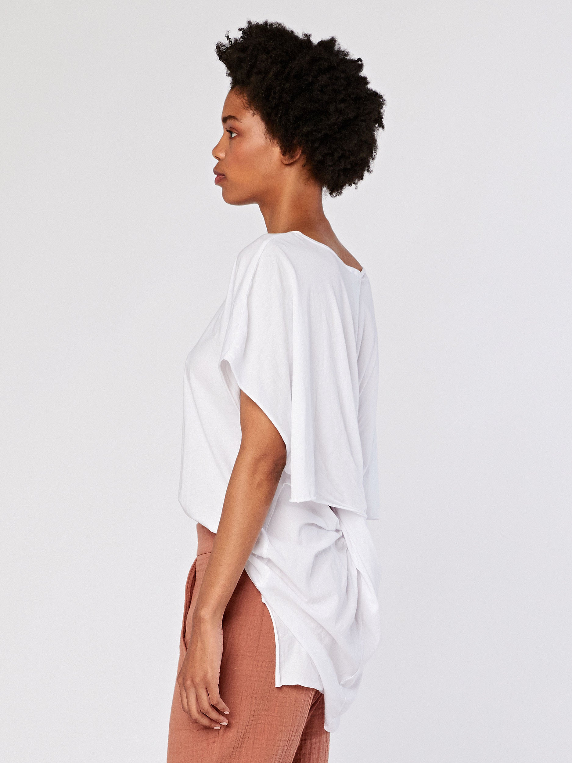 Delphie Twisted Back Tee