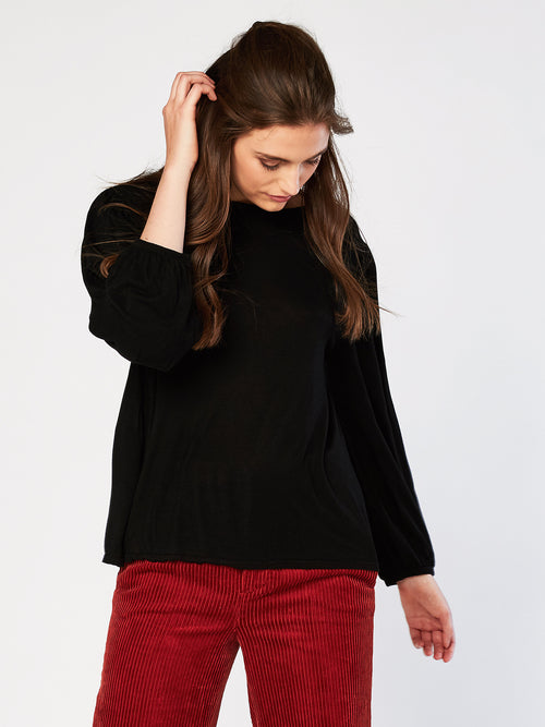 Morgan Button Down Back Tee