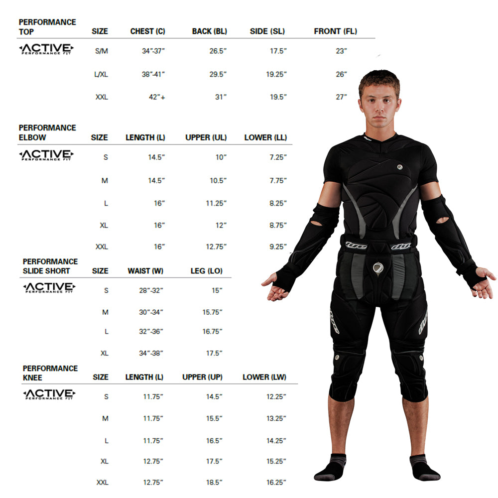 Sizing charts performance paintball gears size chart.