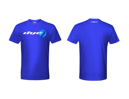 T-Shirt DYE Logo Lock Blue