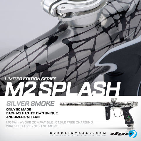 Dye M2 MOSAir- Silver Smoke Fade Splash- Limited Edition