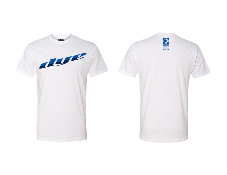 T-Shirt DYE Split White/Blue