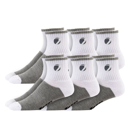 Sock Sport wht/gry L/XL 6 pack