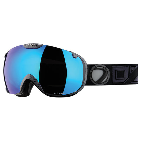 DYE Snow T1 Goggle | Black / Grey POLARIZED w/ 2x Lenses
