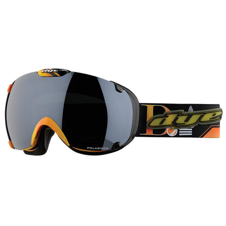 DYE Snow T1 Goggle | Black / Orange POLARIZED w/ 2x Lenses