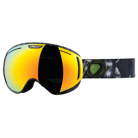 DYE Snow CLK Goggle | Lime / White POLARIZED w/ 3x Lenses