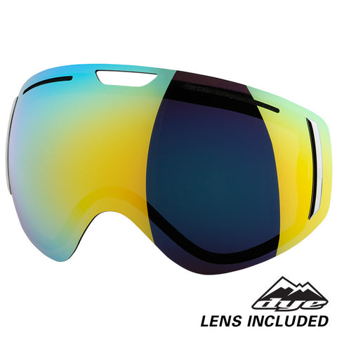 DYE Snow CLK Goggle | Lime / White w/ 2x Lenses