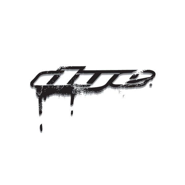 "DYE Drip Sticker - 8"" (Black or White)"