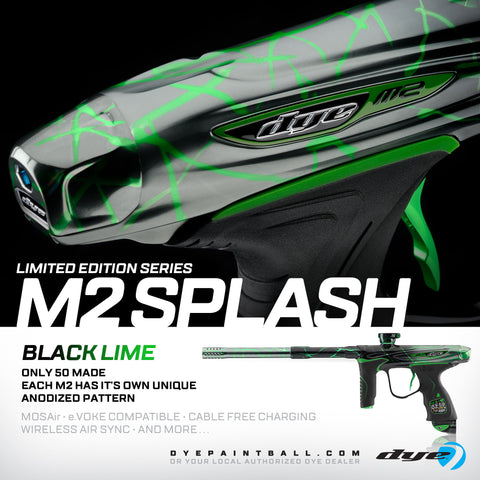 Dye M2 MOSAir- Black Grey Fade with Lime Splash- Limited Edition