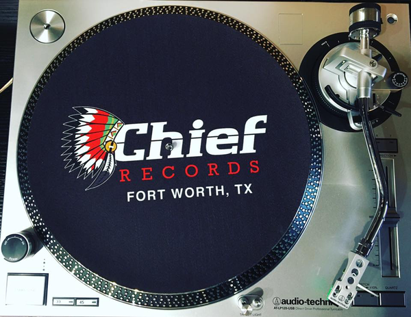 Groovy Custom Chief Records Slipmat Black