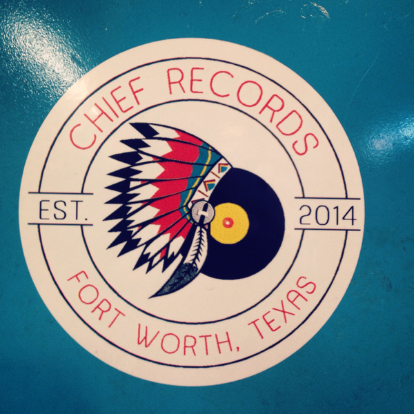 White Circle Chief Records Sticker