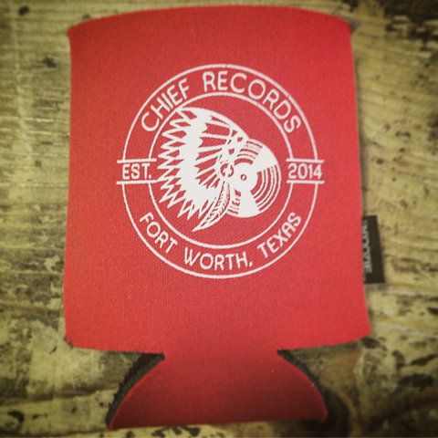 Chief Records Red Koozie