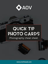 Load image into Gallery viewer, Quick Tip Photography and Camera Cheat Sheet