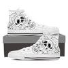 Skull Rose - Womens High Tops - Ink and Iron co.