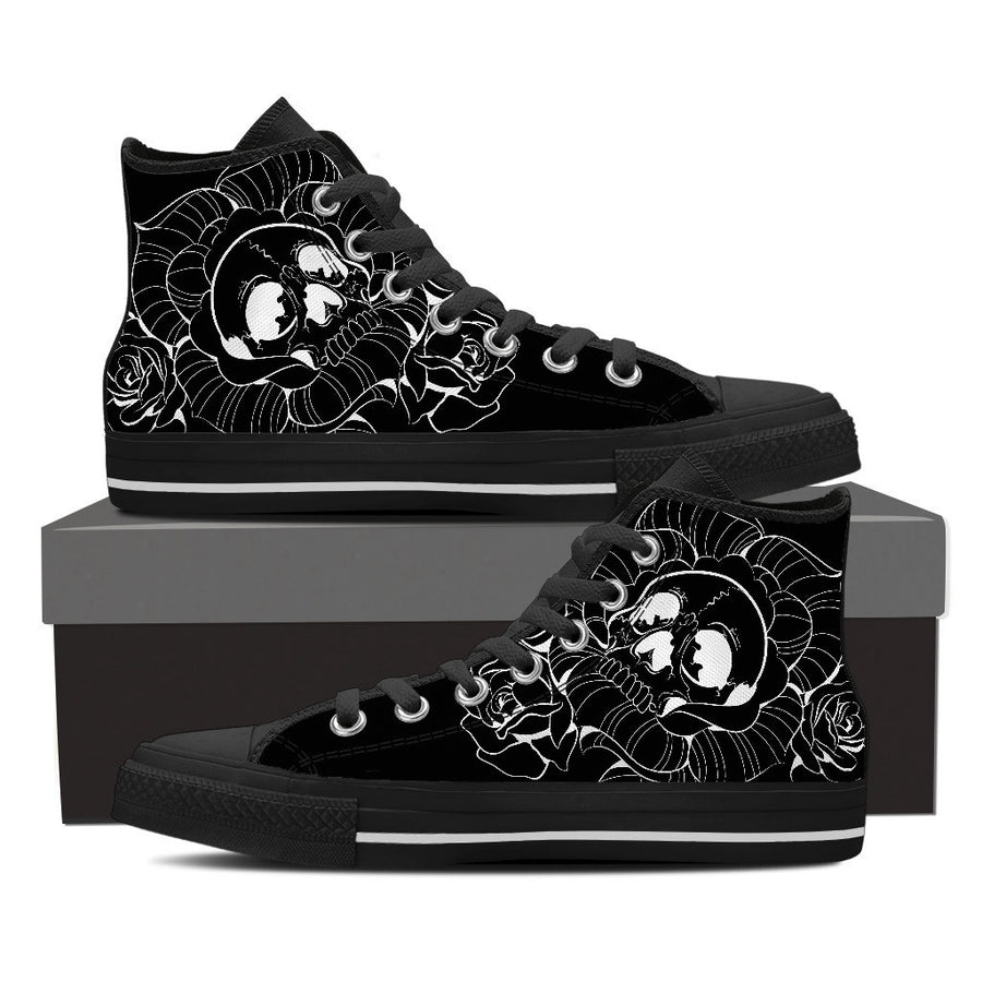 Skull Rose - Womens High Tops