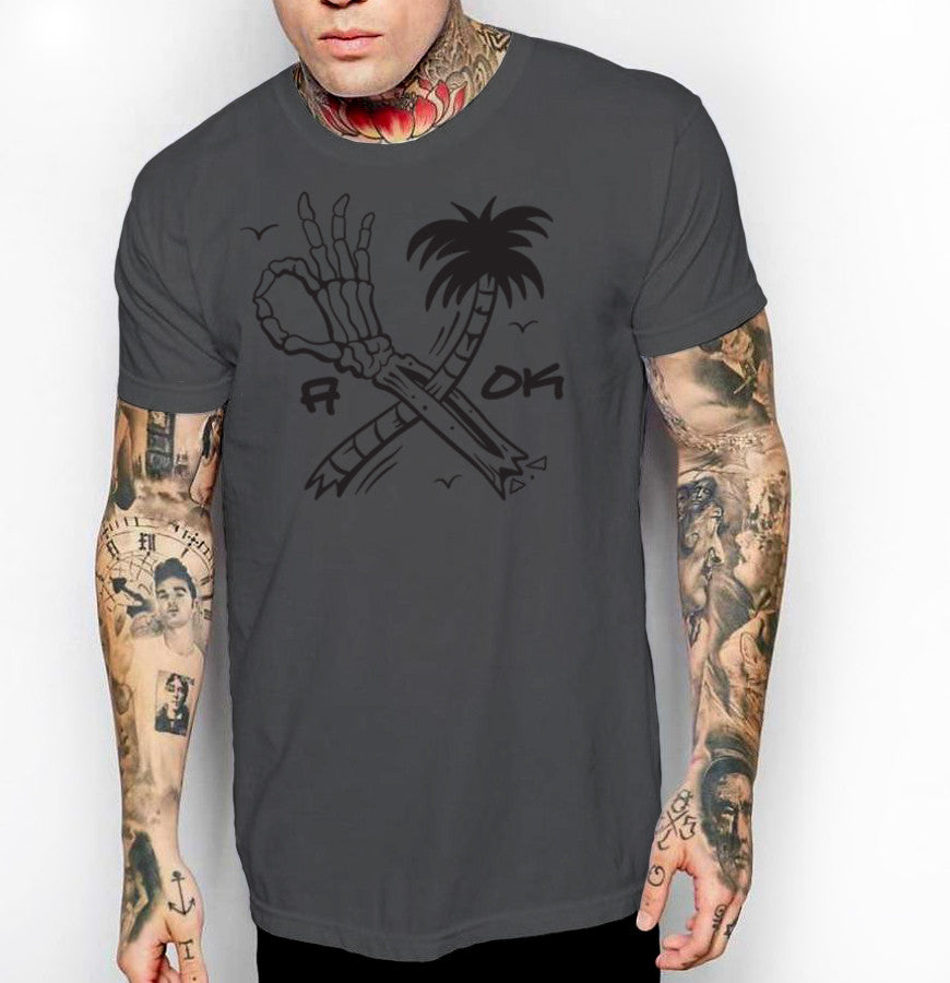 A OK - Front Print Mens Jersey T-Shirt - Ink and Iron co.