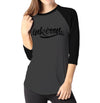 Branded Large - Ladies 3/4 Sleeve Raglan Shirt