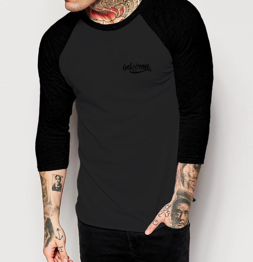 Branded Small - Mens 3/4 Sleeve Raglan Shirt - Ink and Iron co.