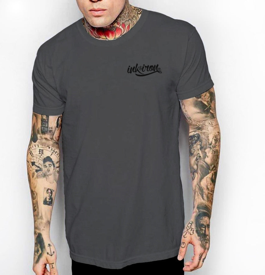 Branded Small - Front Print Mens Jersey T-Shirt - Ink and Iron co.
