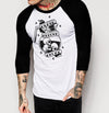 Death Before Decaf - Mens 3/4 Sleeve Raglan Shirt - Ink and Iron co.