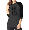 Death Before Decaf - Ladies 3/4 Sleeve Raglan Shirt - Ink and Iron co.