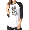 Death Before Decaf - Ladies 3/4 Sleeve Raglan Shirt