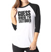Guess - Ladies 3/4 Sleeve Raglan Shirt - Ink and Iron co.
