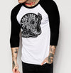 Pinup Branded - Mens 3/4 Sleeve Raglan Shirt - Ink and Iron co.