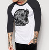 Pinup Branded - Mens 3/4 Sleeve Raglan Shirt