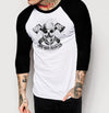 Skull Branded - Mens 3/4 Sleeve Raglan Shirt